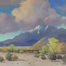 "American Legacy Fine Arts presents ""Untitled (Smoke Tree; Palm Springs, c.1930)"" a painting by George Sanders Bickerstaff."""