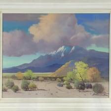 "American Legacy Fine Arts presents ""Untitled (Smoke Tree; Palm Springs, c.1930)""a painting by George Sanders Bickerstaff."""