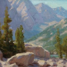 "American Legacy Fine Arts presents ""A Glimpse of Third Lake"" a painting by Jean LeGassick."