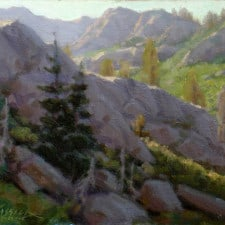 "American Legacy Fine Arts presents ""Granite Chief Wilderness Study"" a painting by Jean LeGassick."