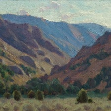 "American Legacy Fine Arts presents ""Light Filled Canyon"" a painting by Jean LeGassick."