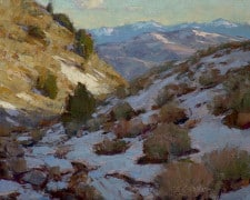 "American Legacy Fine Arts presents ""Melting Snow"" a painting by Jean LeGassick."