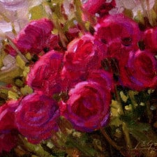 "American Legacy Fine Arts presents ""Rose Cluster"" a painting by Jean LeGassick."