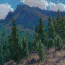 "American Legacy Fine Arts presents ""Summer in the Warners; Cedarville, California"" a painting by Jean LeGassick."