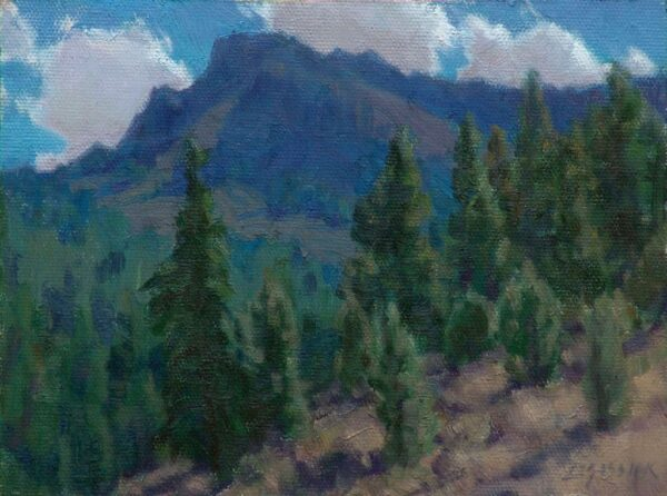 """American Legacy Fine Arts presents """"Summer in the Warners; Cedarville, California"""" a painting by Jean LeGassick."""