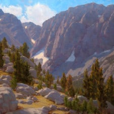 "American Legacy Fine Arts presents ""Heart of Big Pine Canyon"" a painting by Jean LeGassick."