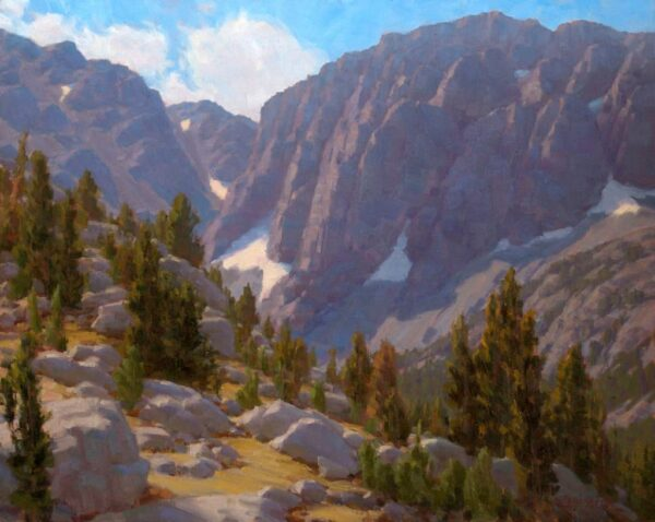 """American Legacy Fine Arts presents """"Heart of Big Pine Canyon"""" a painting by Jean LeGassick."""