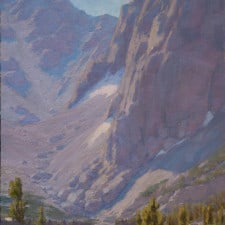 "American Legacy Fine Arts presents ""Vertical Rise Above Third Lake"" a painting by Jean LeGassick."