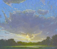 "American Legacy Fine Arts presents ""Evening Light"" a painting by Jennifer Moses."