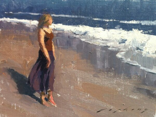 "American Legacy Fine Arts presents ""Afternoon Walk on the Beach"" a painting by Jeremy Lipking."
