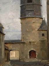 "American Legacy Fine Arts presents ""Chatillon Coligny; Loire Valley"" a painting by Jeremy Liping."