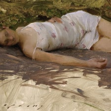 "American Legacy Fine Arts presents ""Delphine"" a painting by Jeremy Lipking."