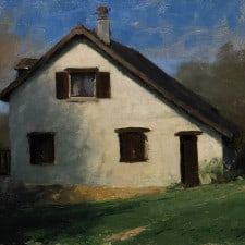 "American Legacy Fine Arts presents ""French Country Cottage"" a painting by Jeremy Liping."