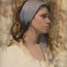 "American Legacy Fine Arts presents ""Grey Scarf"" a painting by Jeremy Lipking."