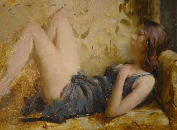 "American legacy Fine Arts presents ""In Repose"" a painting by Jeremy Lipking."