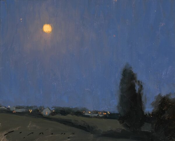 "American Legacy Fine Arts presents ""Moonlight Over the Loire Valley"" a painting by Jeremy Lipking."