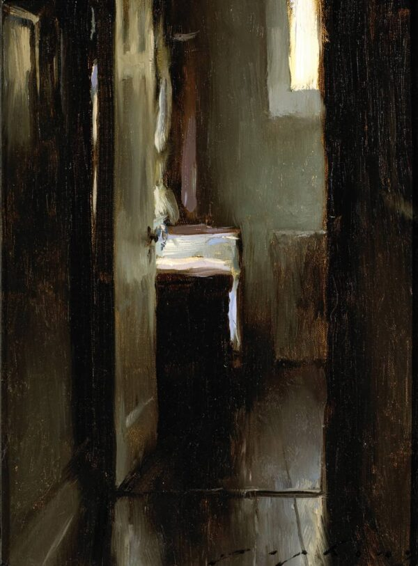 "American Legacy Fine Arts presents ""The Artists's Studio"" a painting by Jeremy Lipking."