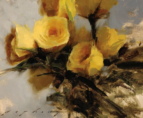 "American Legacy Fine Arts presents ""Yellow Roses"" a painting by Jeremy Lipking."
