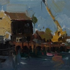"American Legacy Fine Arts presents ""Port at San Pedro"" a painting by Jove Wang."