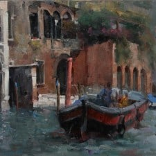 "American Legacy Fine Arts presents ""Morning in Venice"" a painting by Jove Wang."