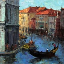 "American Legacy Fine Arts presents ""Holiday in Venice"" a painting by Jove Wang."