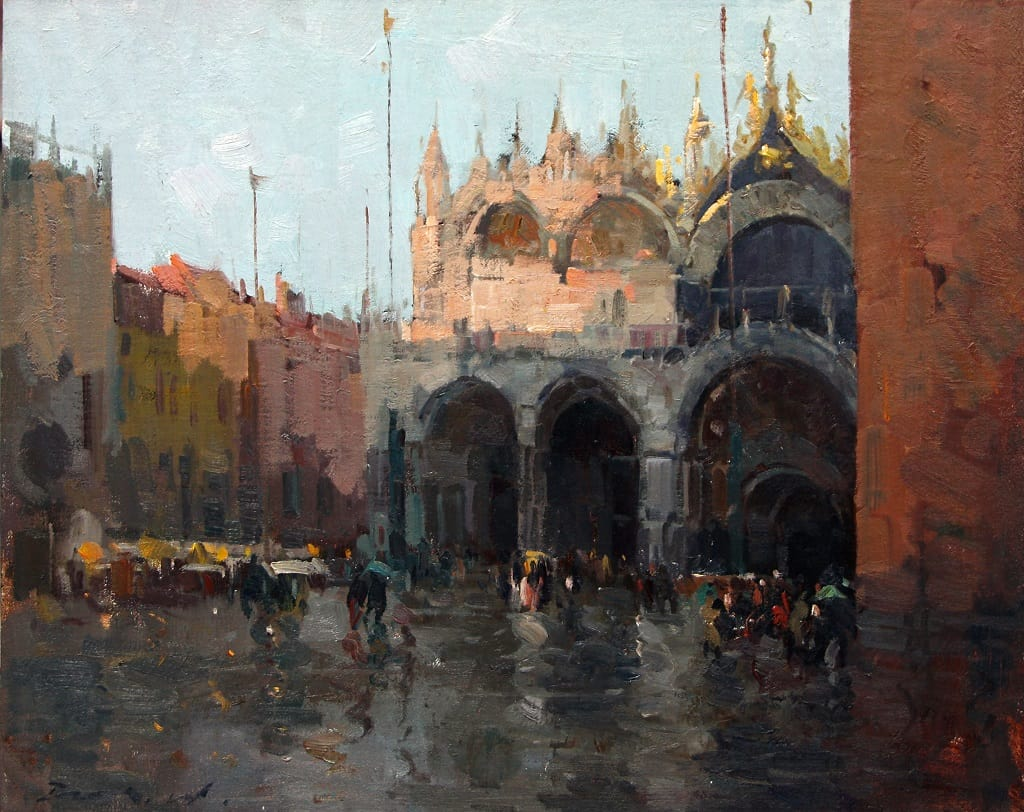 Rainy Day at Piazza San Marco | American Legacy Fine Arts