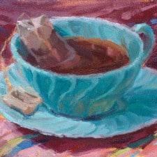 "American Legacy Fine Arts presents ""Fiesta Tea"" a painting by Jean LeGassick."