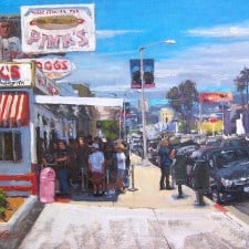"American Legacy Fine Arts presents ""Lunch at Pink's"" a painting by Scott W. Prior."
