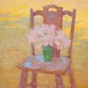 "American Legacy Fine Arts presents ""Amaryllis Belladonna in a Green Vase"" a painting by Eric Merrell."