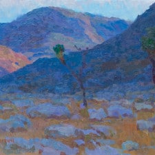 """American Legacy Fine Arts presents """"Desert Contrasts; Joshua Tree Highlands"""" a painting by Eric Merrell."""