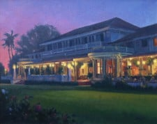 "American Legacy Fine Arts presents ""After Hours at the Clubhouse"" a painting by Michael Obermeyer."