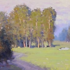 "American Legacy Fine Arts presents ""Country Club View"" a painting by Michael Situ."