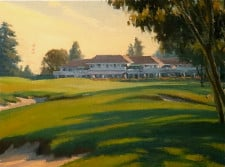 "American Legacy Fine Arts presents ""Approach to the Clubhouse"" a painting by Michael Obermeyer."
