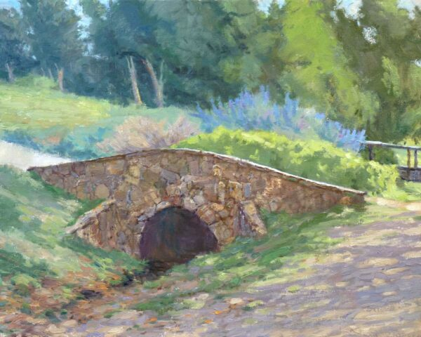 "American Legacy Fine Arts presents ""Little Stone Bridge"" a painting by Stephen Mirich."
