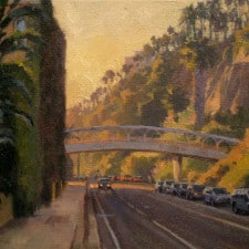 "American Legacy Fine Arts presents ""Along the Palisades"" a painting by Michael Obermeyer."