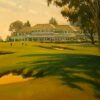 """American Legacy Fine Arts presents """"Back to the Clubhouse"""" a painting by Michael Obermeyer."""