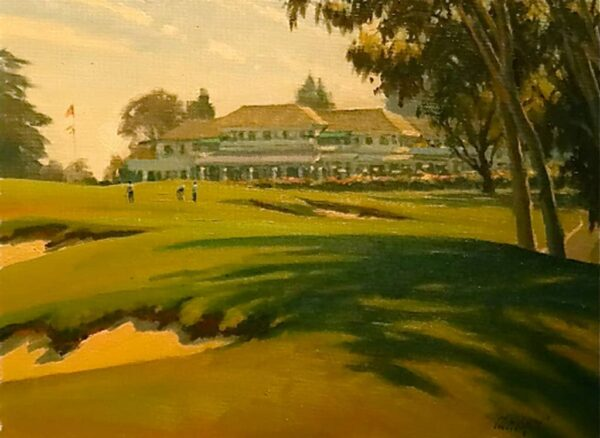 "American Legacy Fine Arts presents ""Back to the Clubhouse"" a painting by Michael Obermeyer."
