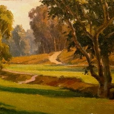 "American Legacy Fine Arts presents ""Barrancas and Bunkers"" a painting by Michael Obermeyer."