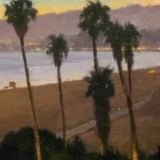 "American Legacy Fine Arts presents ""Coast Twilight"" a painting by Michael Obermeyer."