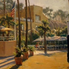 "American Legacy Fine Arts presents ""Morning Coffee"" a painting by Michael Obermeyer."