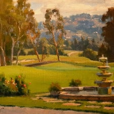 "American Legacy Fine Arts presents ""Morning on the Reagan Terrace"" a painting by Michael Obermeyer."