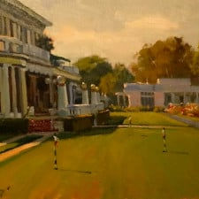 "American Legacy Fine Arts presents ""The Clubhouse Lawn"" a painting by Michael Obermeyer."