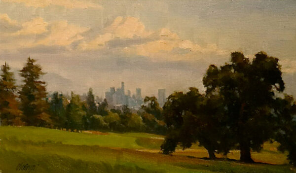 "American Legacy Fine Arts presents ""Vista De Los Angeles"" a painting by Michael Obermeyer."