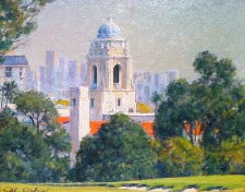 "American Legacy Fine Arts presents ""View of El Rodeo School; Los Angeles"" a painting by Alexander V. Orlov."