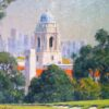 "American Legacy Fine Arts presents ""View of El Rodeo School; Los Angeles"" a painting by Alexander V. Orlov."