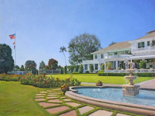 "American Legacy Fine Arts presents ""Clubhouse Splendor"" a painting by Alexander V. Orlov."