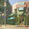 "American Legacy Fine Arts presents ""Fair Oaks Pharmacy, South Pasadena"" a painting by Alexander V. Orlov."