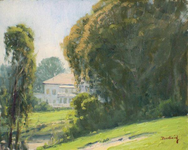 "American Legacy Fine Arts presents ""Peek-a-Boo"" a painting by John Budicin."