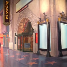 """American Legacy Fine Arts presents """"Grauman's Chinese Theatre"""" a painting by Tony Peters."""