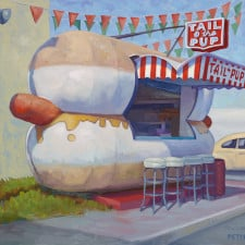 """American Legacy Fine Arts presents """"Tail O' the Pup"""" a painting by Tony Peters."""